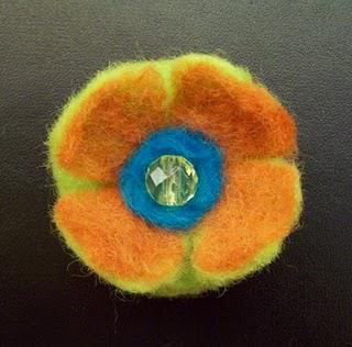 Felt Flower Brooch