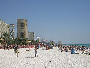 Panama City Beach, Florida during spring break.
