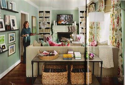 Check out this amazing basement/den makeover