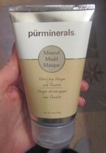 Covered in mud with Pur Minerals Mineral Mudd Masque
