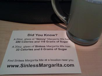 Sinless Margarita Calories