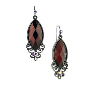 Mysterious Red Marquise Cut Earrings
