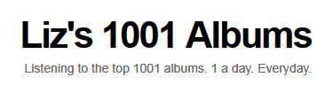 Liz's 1001 Albums