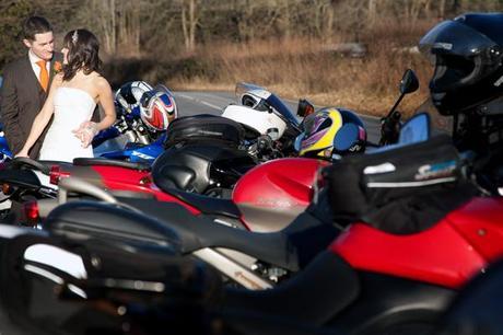 A biker bride and groom?