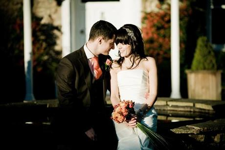 Romantic winter wedding photograph