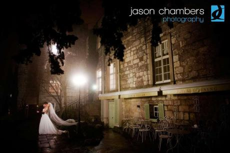 Lake District wedding photography - foggy bride and groom by Jason Chambers