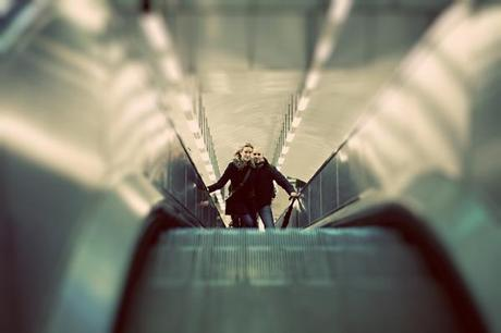 Love this shot on the escalator
