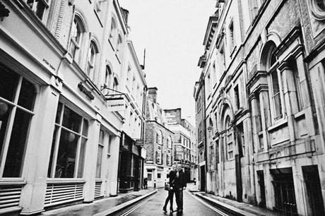 Paul and Helen, in a London street that must be pretty much unchanged from decades past