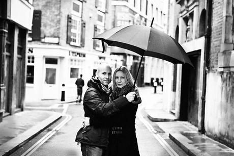 Making the most of a rainy day, I love this black and white image