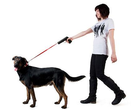 Retractable Dog Snap Leash With Gun-Shaped Handle