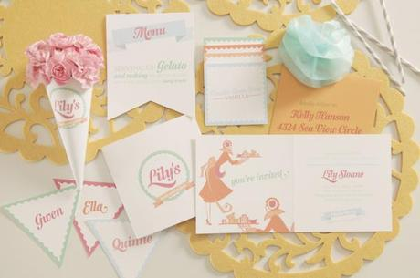 Gelato Bridal Shower Theme