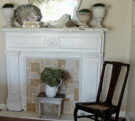 diy faux fireplaces paperblog