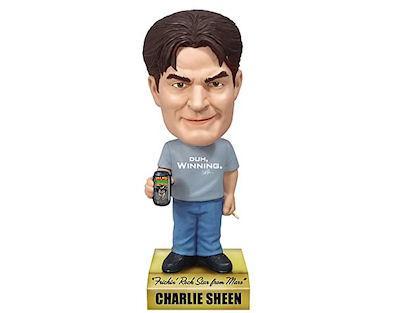 Charlie Sheen Talking Wacky Wobbler Bobble Head