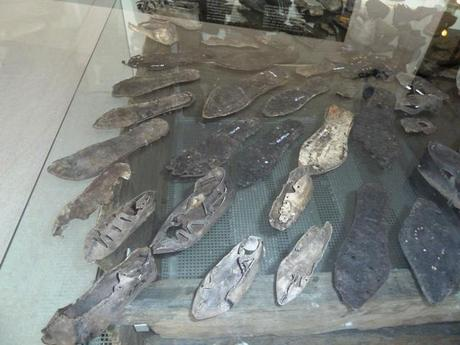 shoes found in an excavation of the roman limes fort