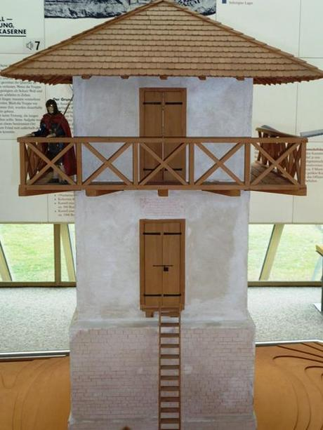 roman limes watch tower model