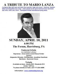Mario Lanza tribute a showcase for Pennsylvania tenors