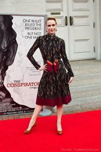 "Evan Rachel Wood at the premiere of ""The Conspirator"""