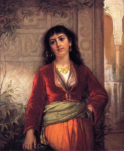 The Unwelcome Companion - A Street Scene in Cairo 1873