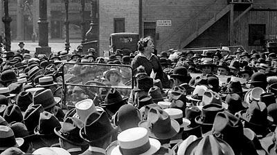 Emma Goldman-- Speaking out for Free Bread, going to jail.  PART I.