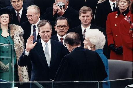 Finally: The last one-termer, George H.W. Bush.