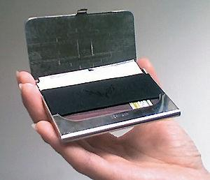 Business card case enclosure