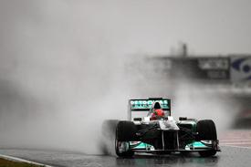 Rain on Final Day of Testing in Barcelona
