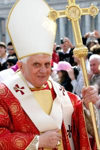Does the pope wear a funny hat?
