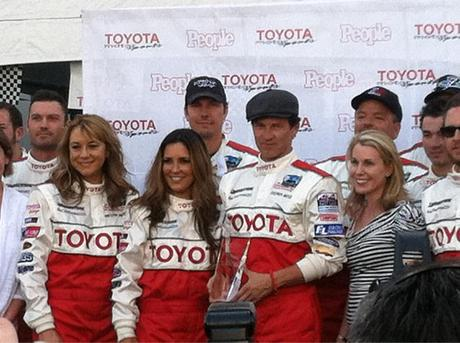 Stephen Moyer flips car and wins Pole Position in Toyota Celebrity Race