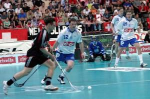 a picture of a game of floorball