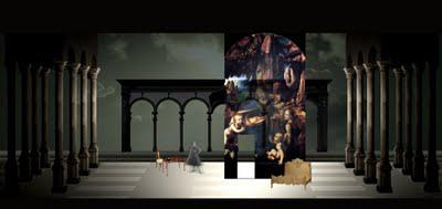How Stages' The Light in the Piazza would have looked, courtesy of set designer Joey Mendoza