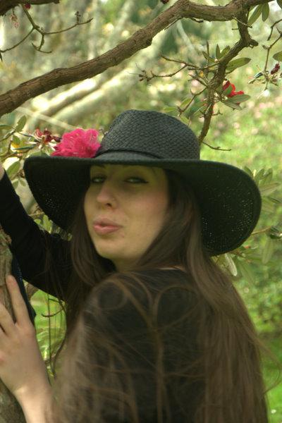 FLORAL HAT Friday Photoshoot at Cluzean castle scotland.  xoxo LLm