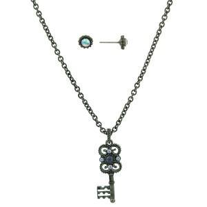Blue Mystery key necklace set