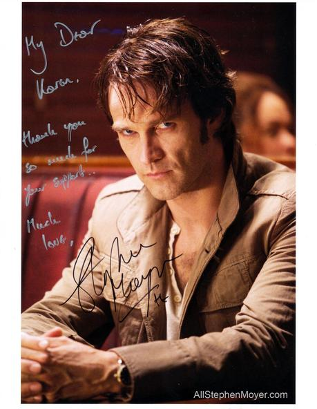 Stephen Moyer Shows Gratitude to Auction Winner in Personal Note