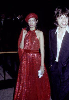 mick and bianca jagger, '70s perfection!