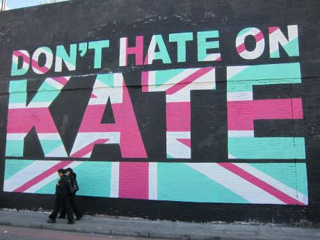 """Don't Hate On Kate"" mural by Monorex"