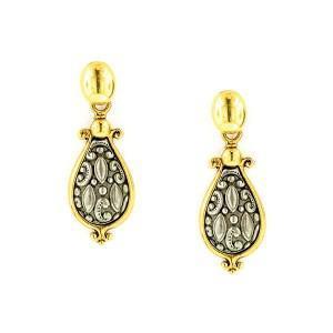 Egyptian style teardrop earrings