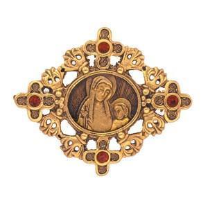 gold vintage cross pin