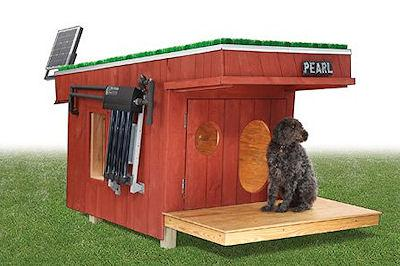 Doghouse With Solar Heating System, LED Lights And Wi-Fi Security Camera