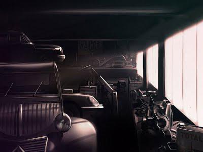 Citroen 2cv rendering by Antoine Chassagne