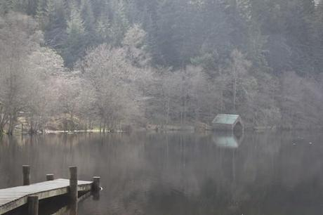 Boathouse in the Trossachs, Scotland