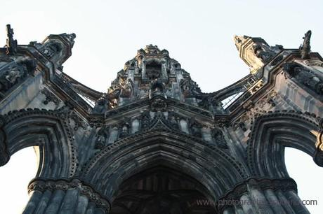 The Scott Monument, Edinburgh, Scotland. Built to commemorate sir Walter Scott