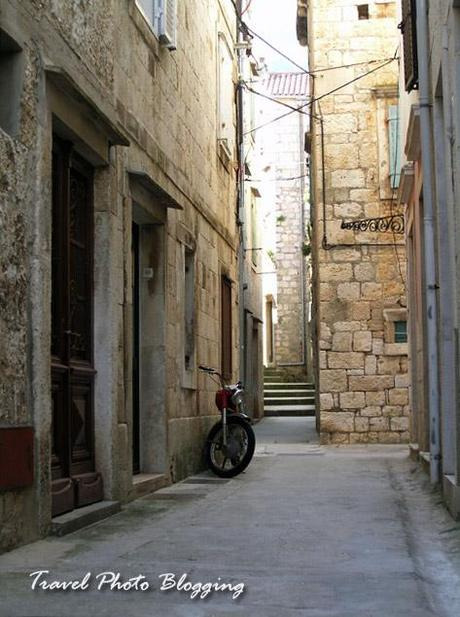 The streets of Vis, Croatia
