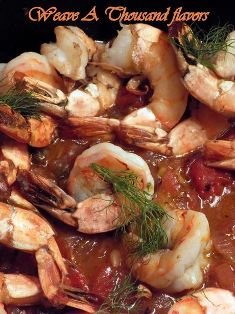 Baked Prawns On a Bed of Tomato & Marsala Chutney 03
