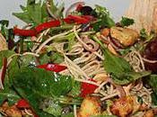 Spicy Chicken Salad with Coriander, Mint Noodles