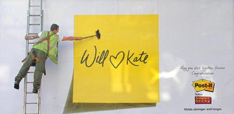 Will and Kate Love Notes from Post-It