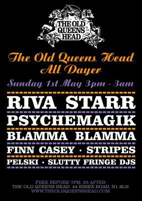 FREE Sunday All-dayer at Old Queens Head, Islington