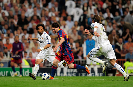 Messi Double Brings Barcelona Closer to Wembley Final