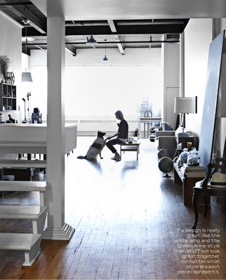 2 lovely but different homes: a photographer's loft, and a couple's ode to their travels