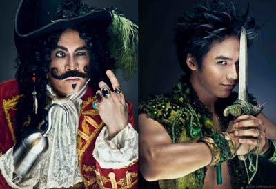 Sam Concepcion is Peter Pan, Michael Williams is Captain Hook in Stages and Rep's Peter Pan