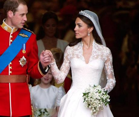 Kate Middleton at her wedding to Prince William